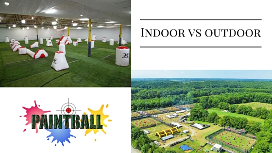 Indoor vs outdoor paintball