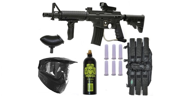 US Army Alpha Black Elite Paintball Gun